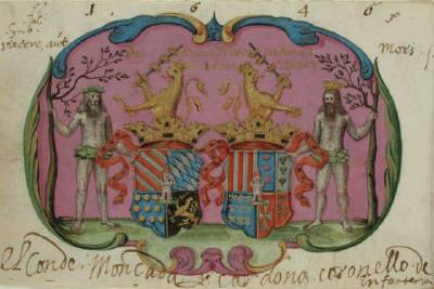 Hommes sauvages, Armorial de Gelre.